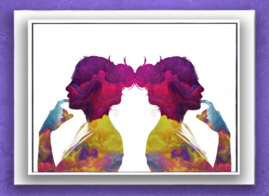 #freetoedit #twins #colorful #framedpicture #framed #mirrored