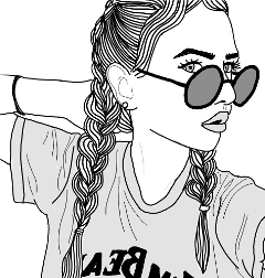 scoutlined outlined tumblr girl sunglasses freetoedit