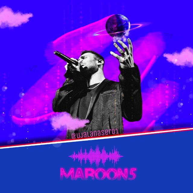 #FreeToEdit #maroon5 #maroon5challenge #maroon5fanart #maroon5day #blue #pink #theme #world