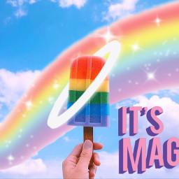 freetoedit magic rainbow pride popsicle