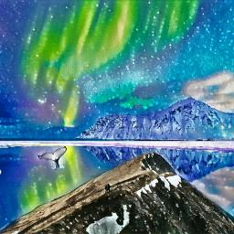 freetoedit arctic alaska polarlights magic