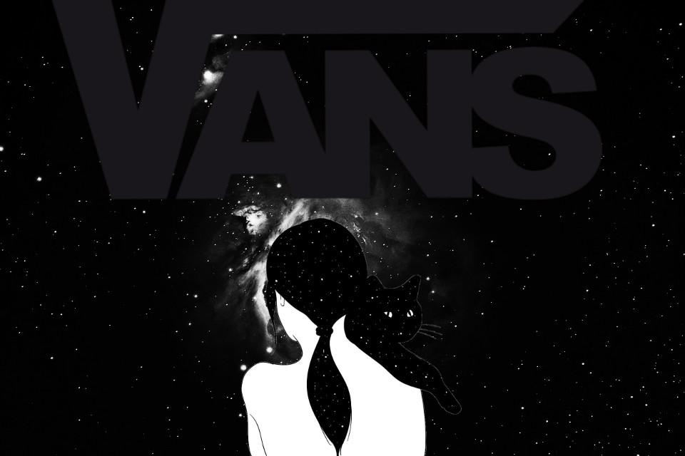 #freetoedit #blackandwhite #space #cat #vans #edit #hopeyoulike