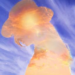 freetoedit woman sky sunset silhouettestencil