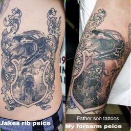 fatherandson inkedlife matching faimly meaningful