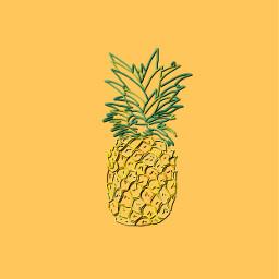 freetoedit pineapple fruit background photography