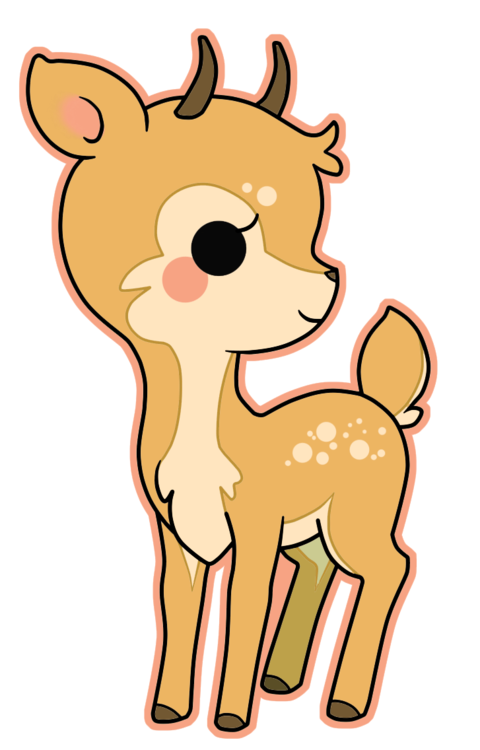 Deer kawaii. Fawn freetoedit