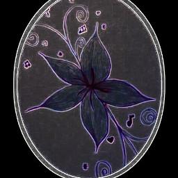 stickersedit mysticker neon purple flower