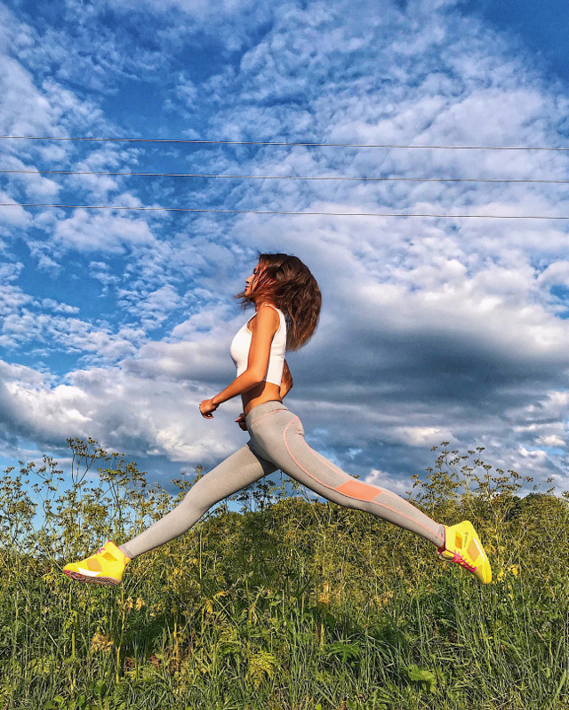 #jump #jumping #fitness #firstpost #sport #sports #legs #fitnessaddict #fitnessgirl #fitnessmodel #nice #cute #cutie #motivation #sky #summer #summertime #amazing #cloud