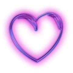 neon neonhearts purple heart neoneffects freetoedit