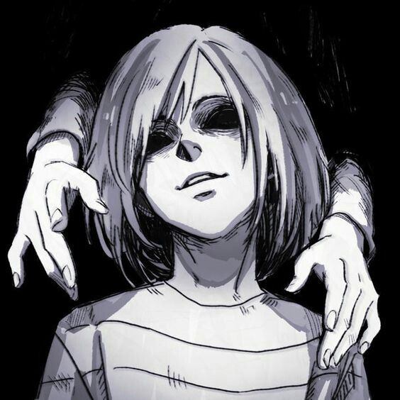 Anime animegirl game chara undertale creepy scary
