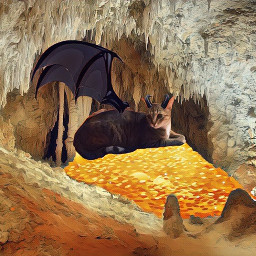 freetoedit cat dragon treasure cave