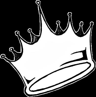 Sticker Crown Aesthetic Tumblr White Queen King Black