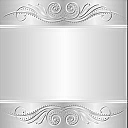 background silver decorative sticker