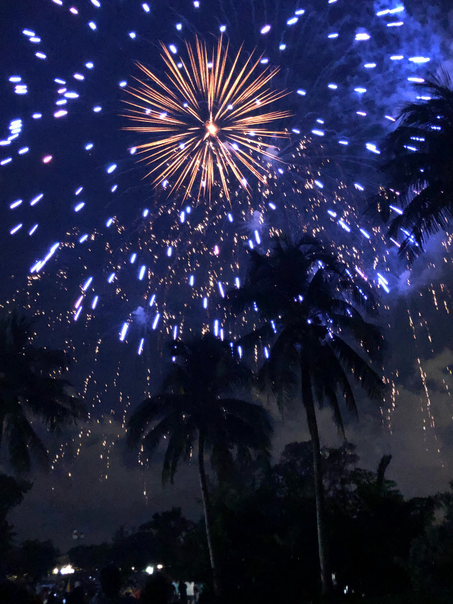 Fourth of July in Miami #fireworks #fourthofjuly2018 #nofilternoedit