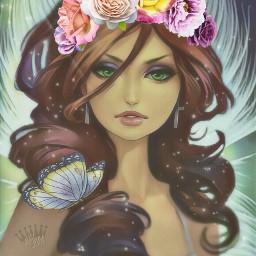 freetoedit srcfridaflowercrown fridaflowercrown