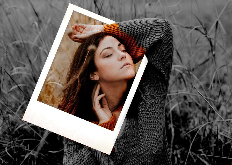 #freetoedit #interesting #photography #nature #polaroid #blackandwhite #remix #colorsplash #picsart #girl