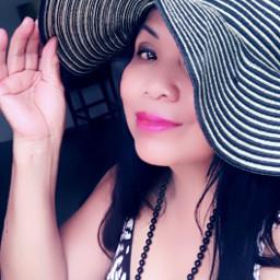 freetoedit selfie summer hat summeroutfit