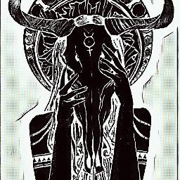 womaninblack skullhead devil horns blackandwhite freetoedit