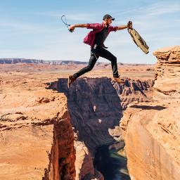 freetoedit boy jump nature mountain