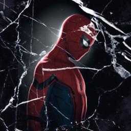 spiderman freetoedit broken brokenglass shattered