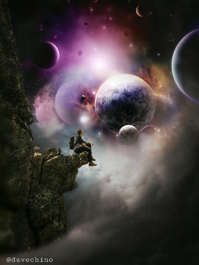 #outerspace #universe #galaxy #planets #people #boy #sittingalone @freetoedit @picsart #surreal #surrealist #myart #myedit