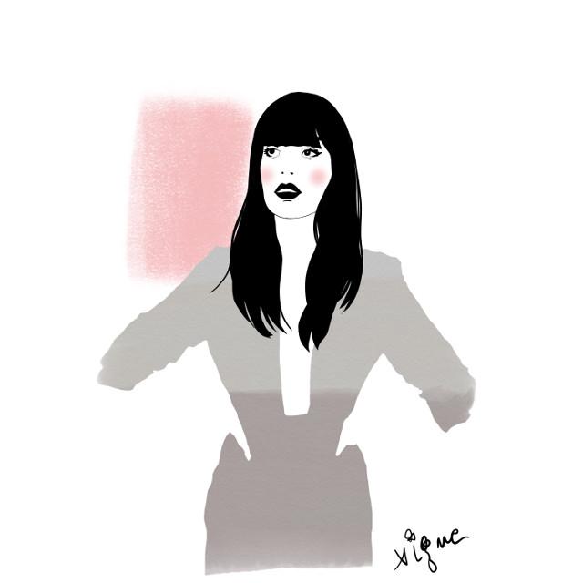 Fashion sketch by Rocio Vigne