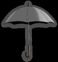 freetoedit sticker stickers umbrella regenschirm schwarz schwarzwei