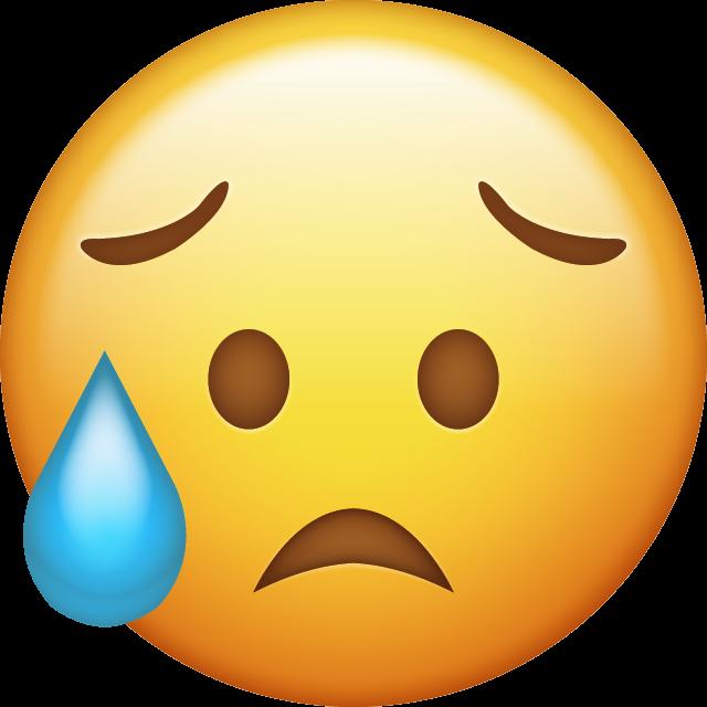 emoji emojis upset crying cry sad sadness freetoedit...