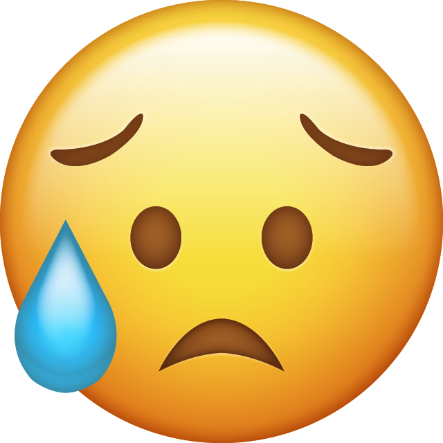 emoji emojis upset crying cry sad sadness freetoedit
