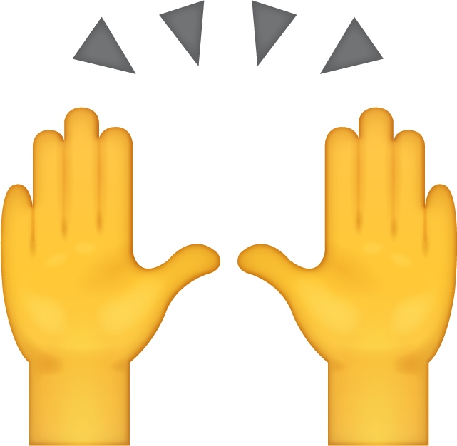 Image result for hand sup emoji png