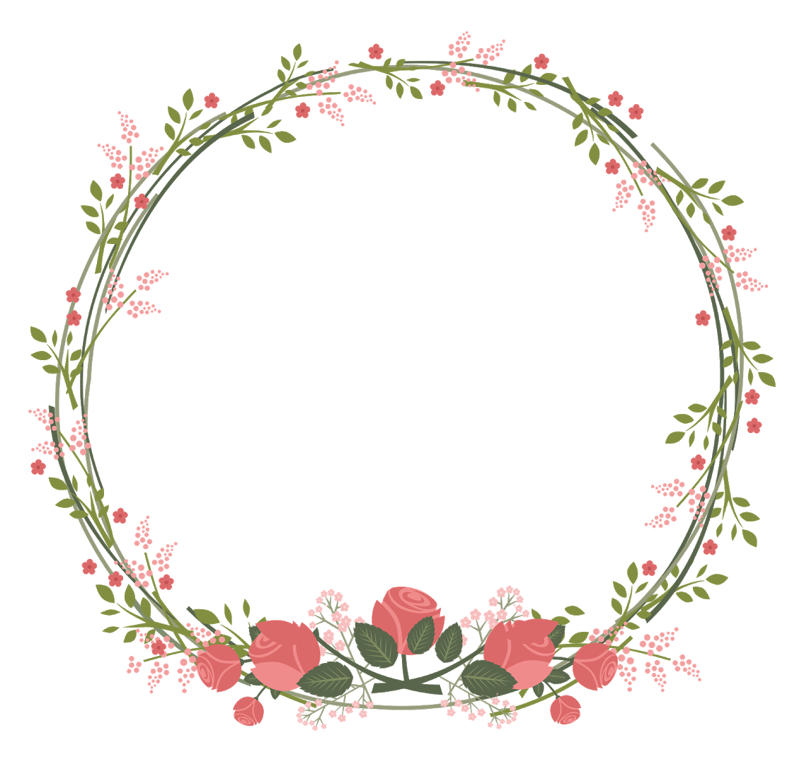 border frame wreath circle round leaves vines vinesan...