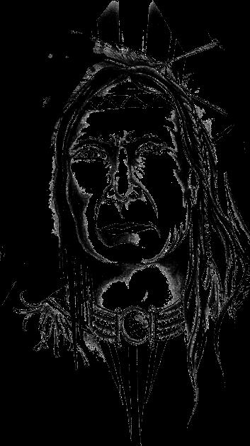 tattoo apache indian - Sticker by EddyTward