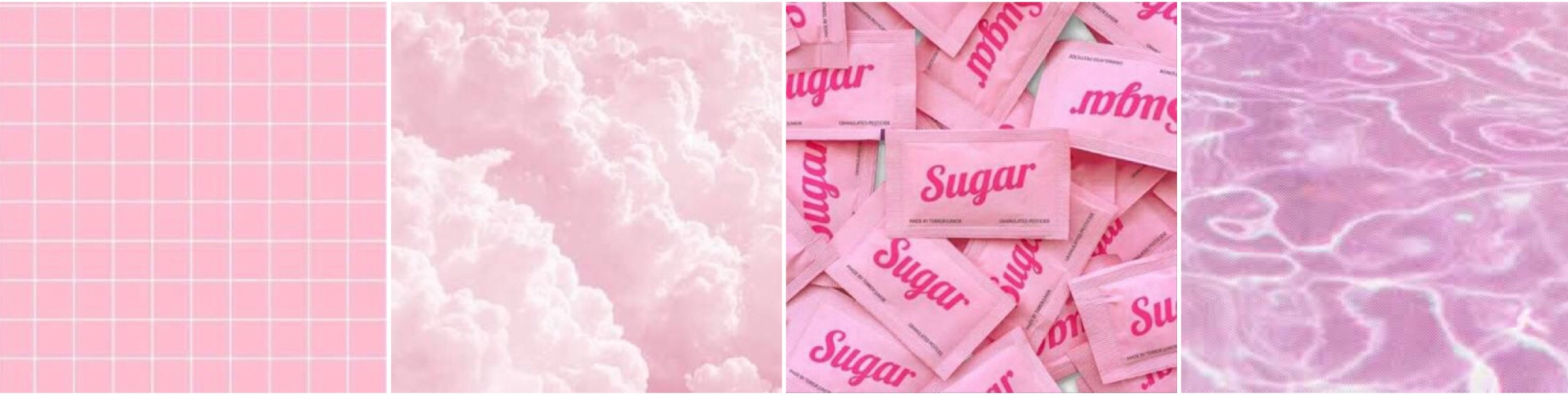 #pink #pinkaesthetic #cool #sugar #clouds #water #grid #collage