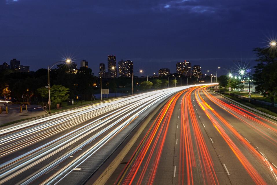 Big city lights  #city #lighttrails #longexposure #road