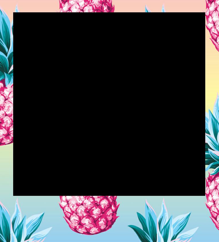 border frame summer pineapple colorful freetoedit...