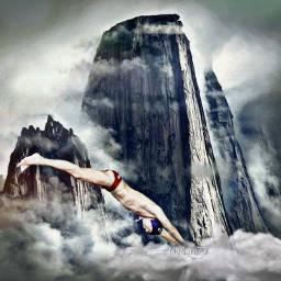 diver diving tuffo surreal freetoedit