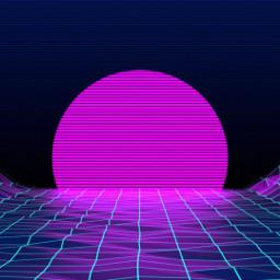 freetoedit vaporwave sunset aesthetic