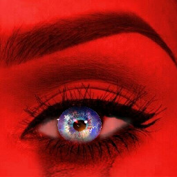 freetoedit eye asthetic red vivideye