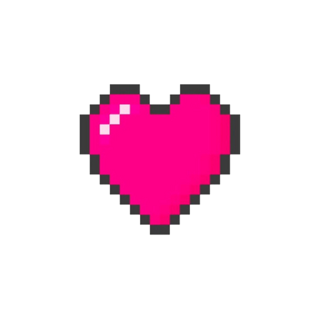 Heart Pixelheart Minecraft Tumblrsticker Pixel Healthba