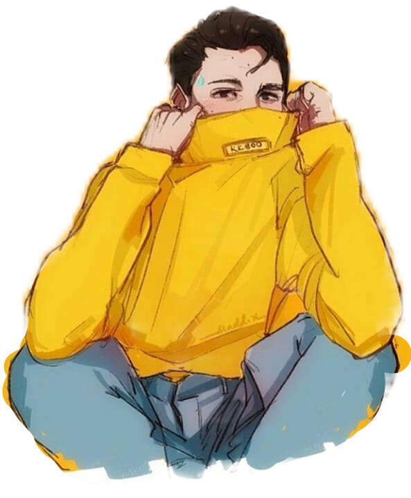 connor aesthetic yellow detroitbecomehuman dbh rk800