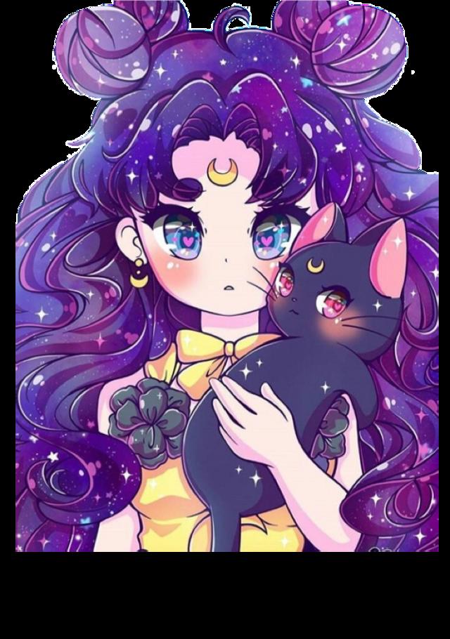Anime Galaxy Girl Sticker #anime #galaxy #animegirl #freetoedit