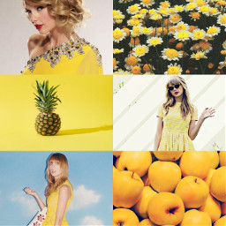 freetoedit taylorswift yellow moodboard reputationtour