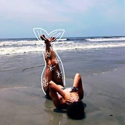 mermaid beach drawing