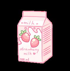 pink milk pinkmilk food drink freetoedit