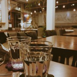 water crystal vintage coffeeshop warmlight pccoffeetime freetoedit