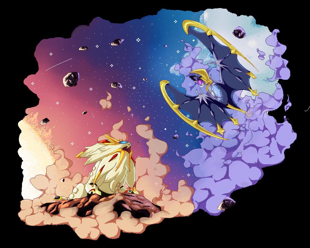 Pokemon Lunala Sogaleo Freetoedit