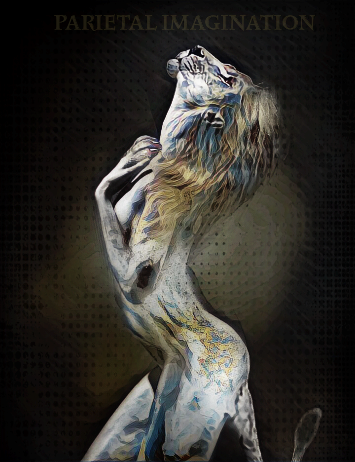 Edit By Parietal Imagination Art Lion Woman Hybrid Pi