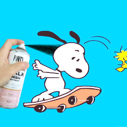 ircsprayonthepink sprayonthepink freetoedit snoopy woodstock