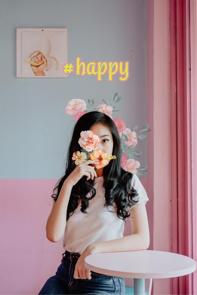 #freetoedit #flower #girl