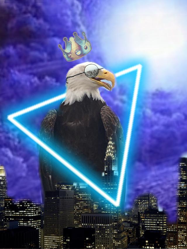 #freetoedit #eagle #art #galaxy #heyo #city